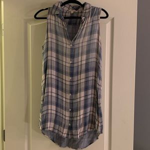 Cloth and Stone Plaid Mini Dress